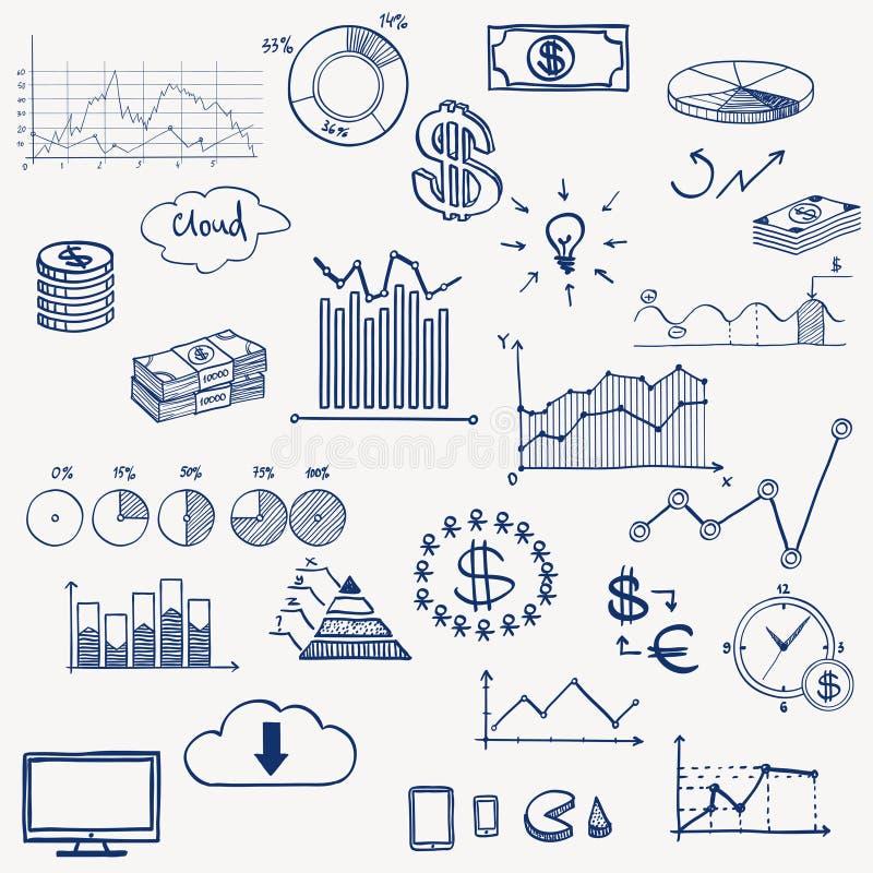 Social do infographics da gestão da finança do negócio ilustração do vetor