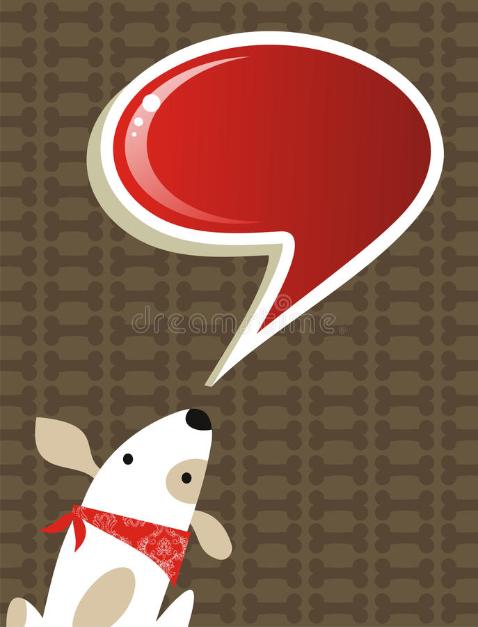 Download Social Dog With Chat Bubble Stock Vector - Image: 22921308