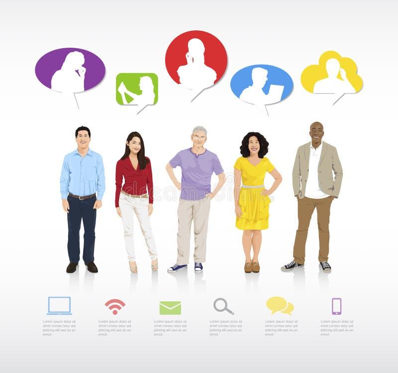 Social Gathering Vector. The vector of social gathering stock illustration