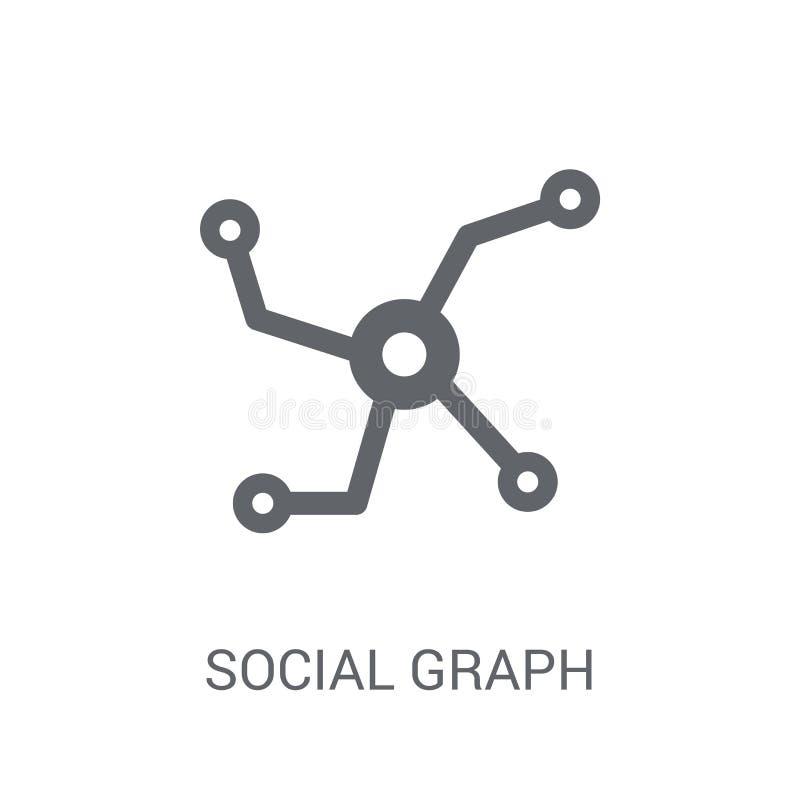Social grafsymbol  vektor illustrationer