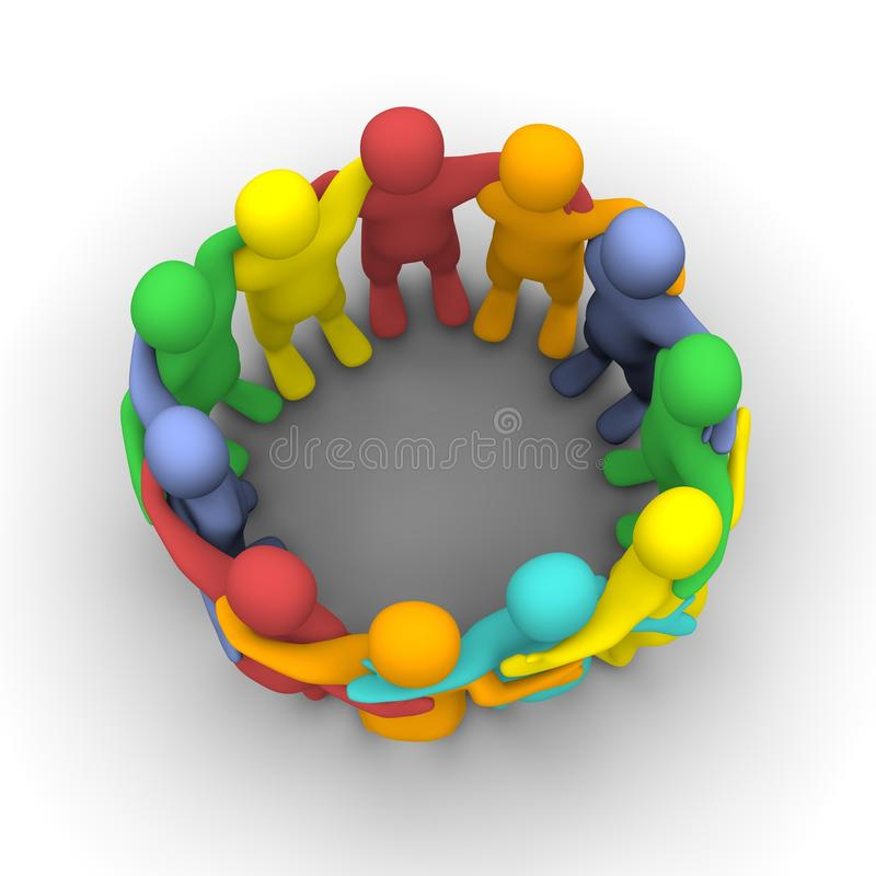 Social Group Of Friends Royalty Free Stock Photos