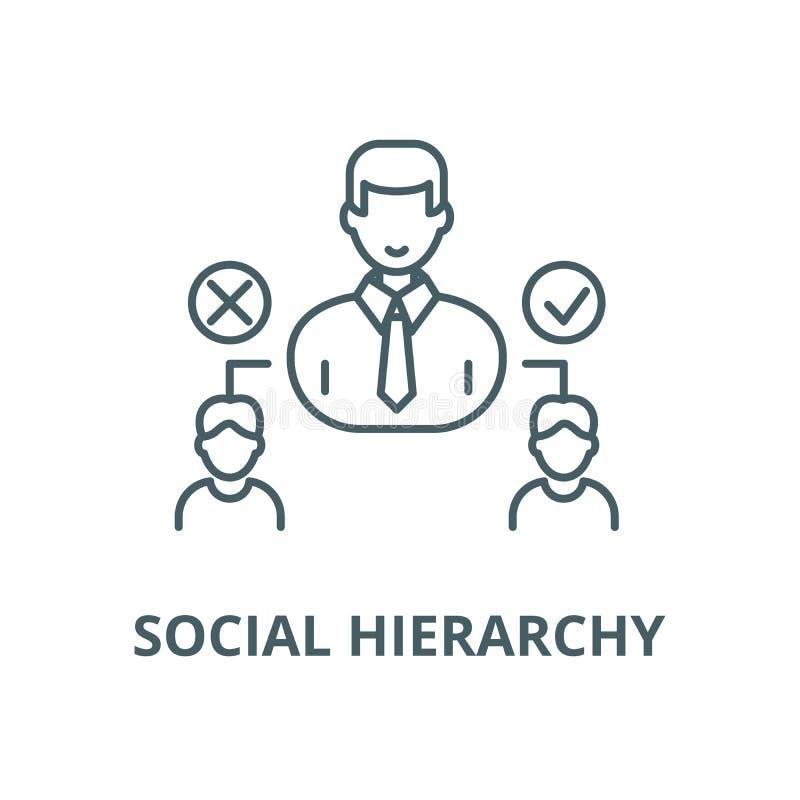Social hierarkivektorlinje symbol, linjärt begrepp, översiktstecken, symbol vektor illustrationer