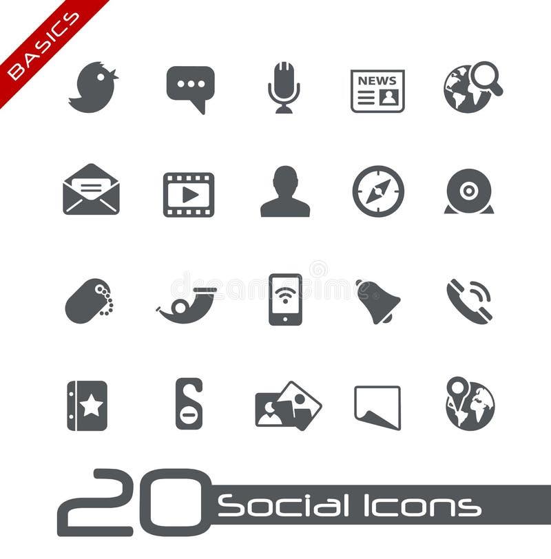 Social Icons // Basics royalty free illustration