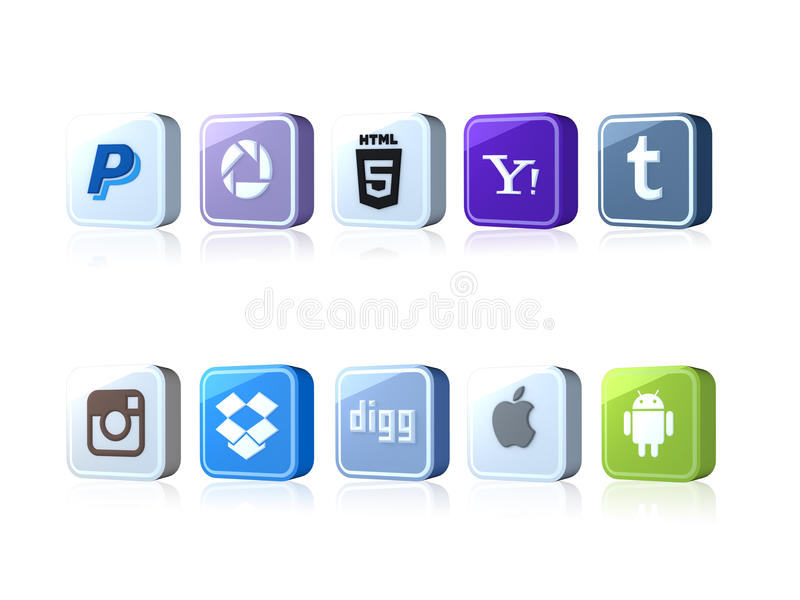 Download Social icons editorial photo. Image of thumblr, apple - 39973851