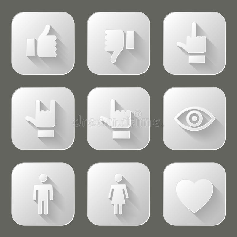 Download Social icons set stock vector. Image of universal, white - 41583785