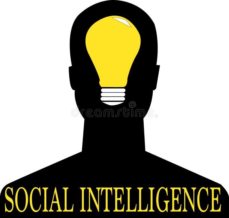 Social intelligence word text logo Illustration. stock illustration