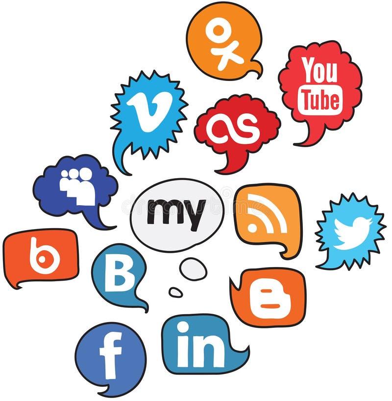 Social logo voice set