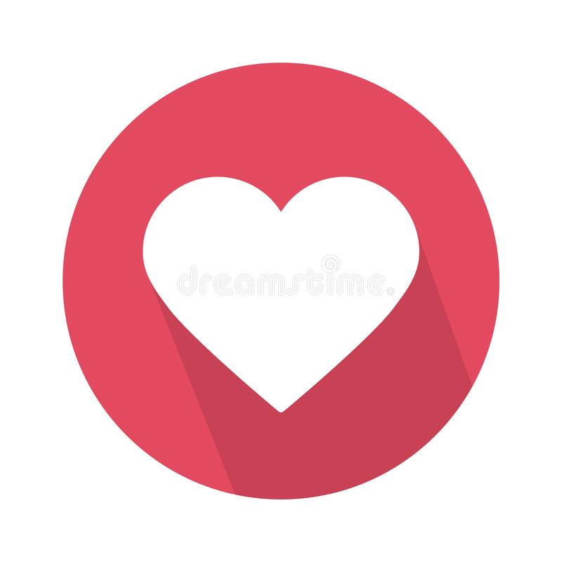 Social love heart icon isolated on white background. Vector illustration. royalty free illustration
