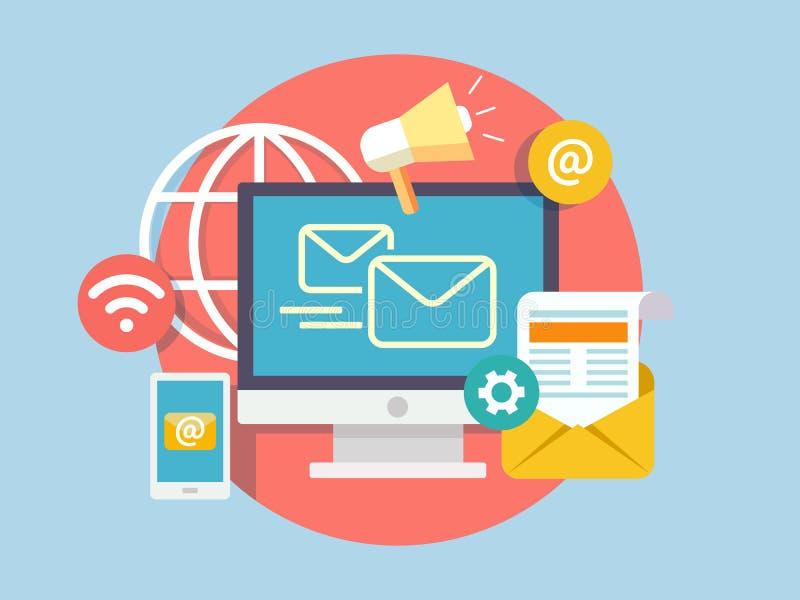 Social marketing concept vector illustration