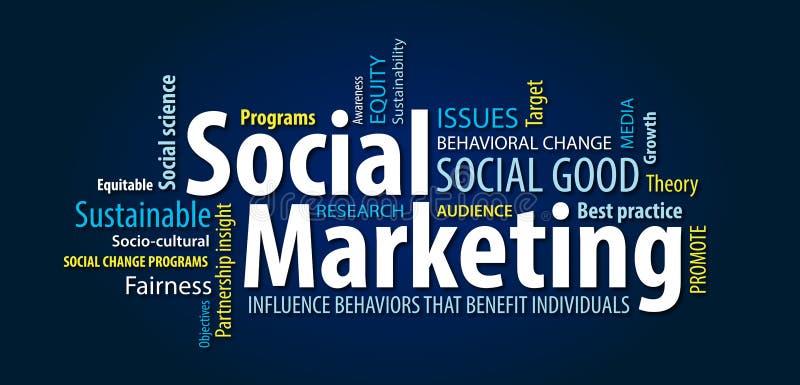 Social Marketing Word Cloud stock image