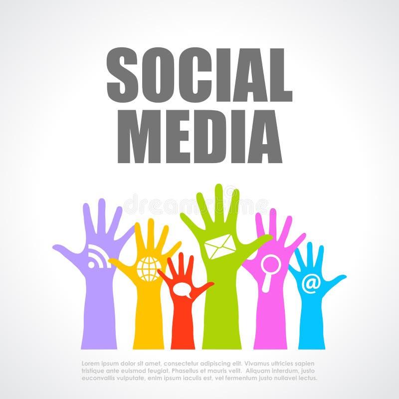 Social massmediaaffisch stock illustrationer