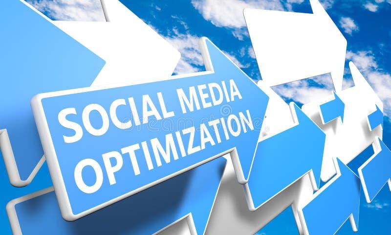 Social massmediaOptimization vektor illustrationer