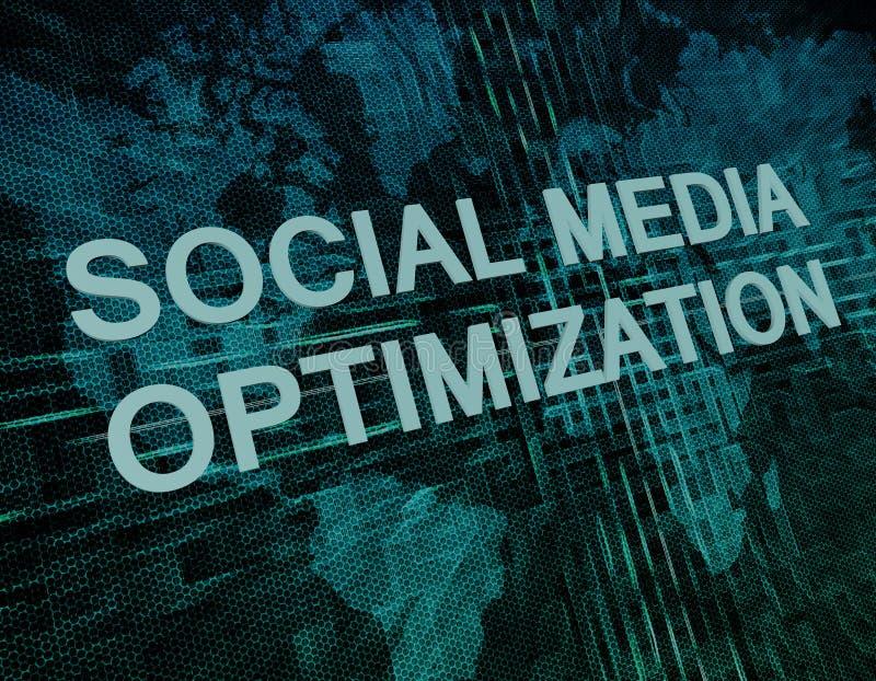 Social massmediaOptimization royaltyfri illustrationer