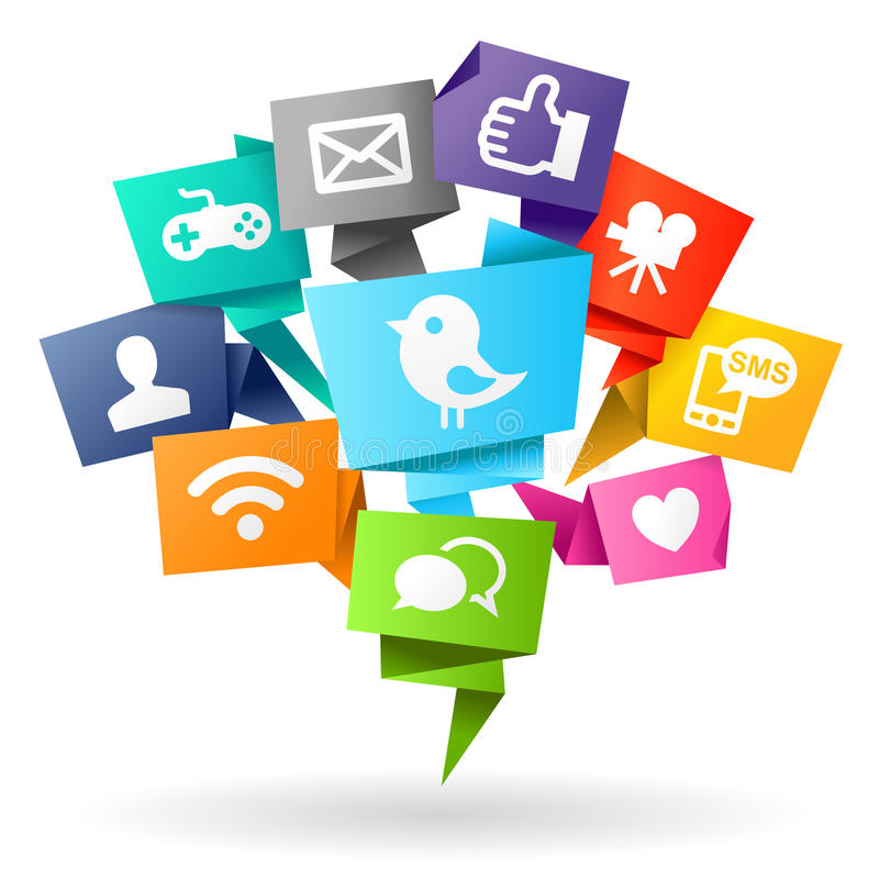 Social massmediaorigami