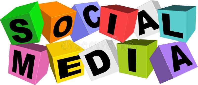 Social media. An illustration of colorful social media icon stock illustration