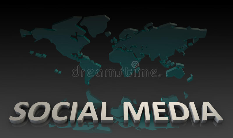 Download Social Media stock illustration. Illustration of marketing - 19206270