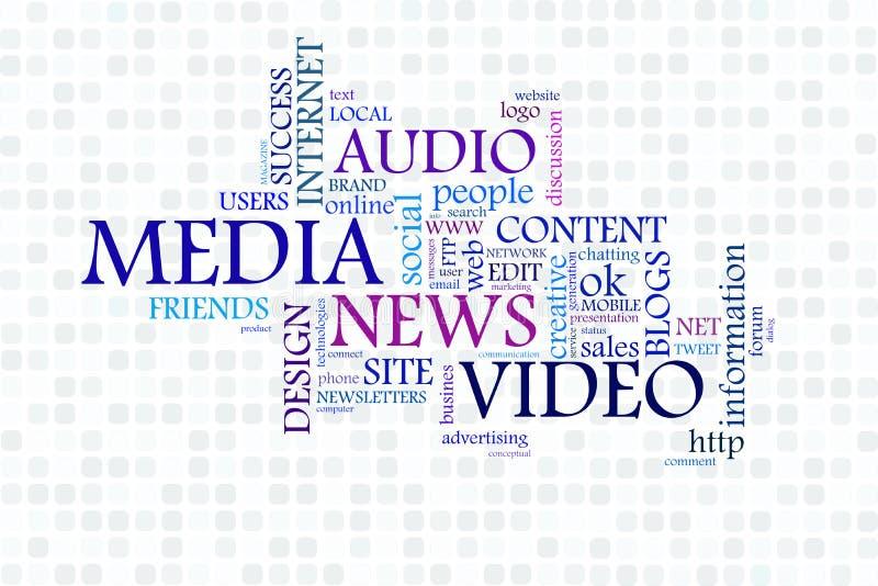 Social Media. High resolution graphic of Social Media speech bubble stock illustration