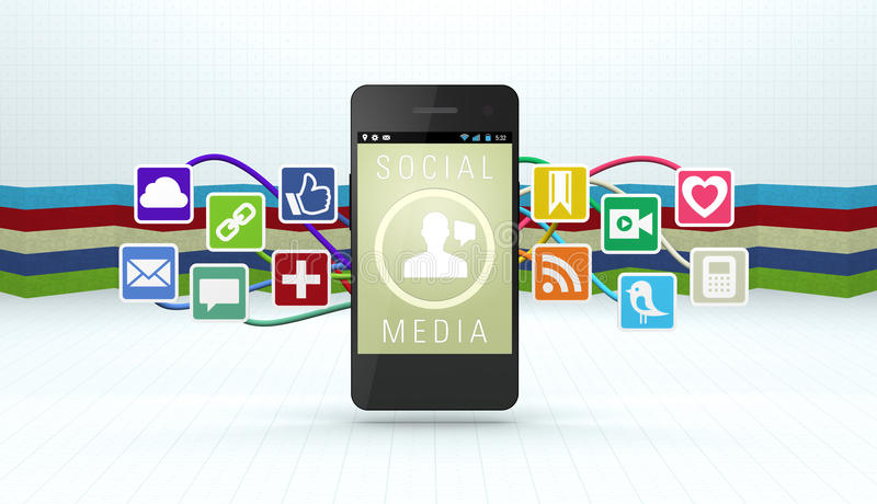 Download Social Media editorial stock photo. Image of isolated - 26929288