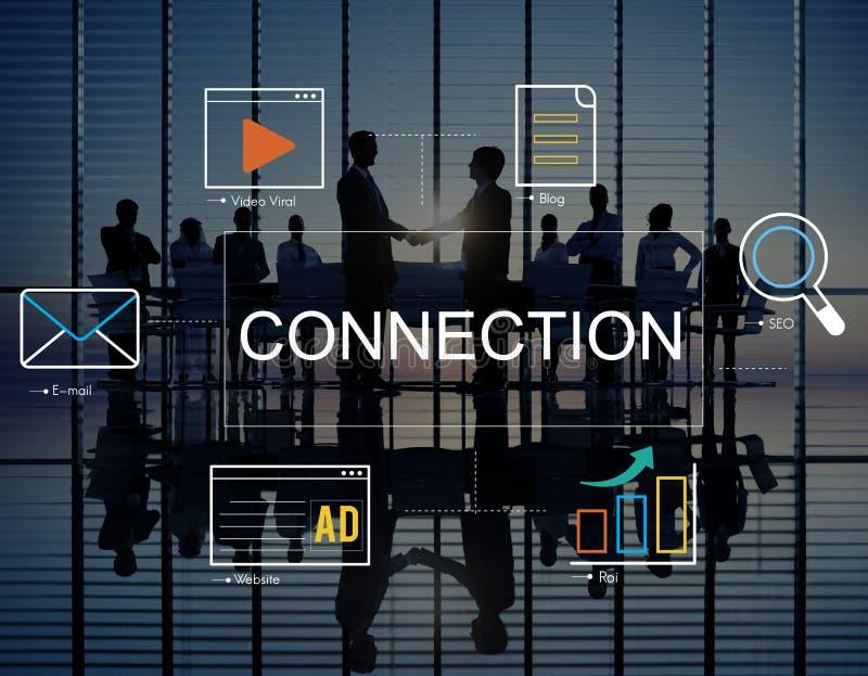 Social Media Advertisement Connection Concept. Social Media Advertisement Connection Team stock photo