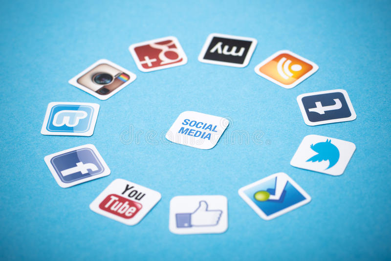 Social Media Apps Editorial Photography