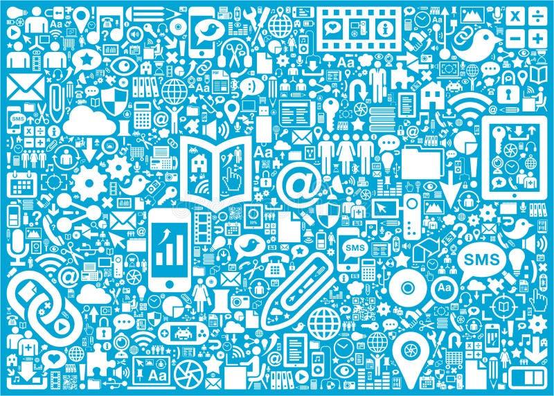 Social Media background vector illustration