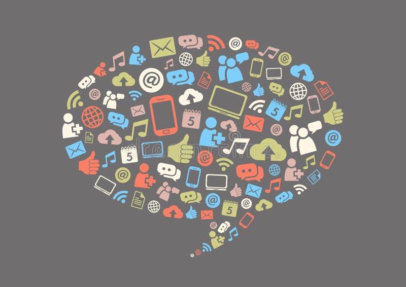 Social Media Background stock illustration