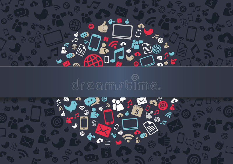 Social Media Background royalty free illustration