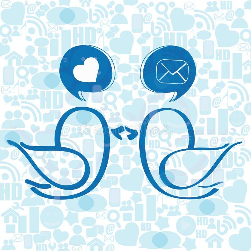 Social media birds royalty free illustration