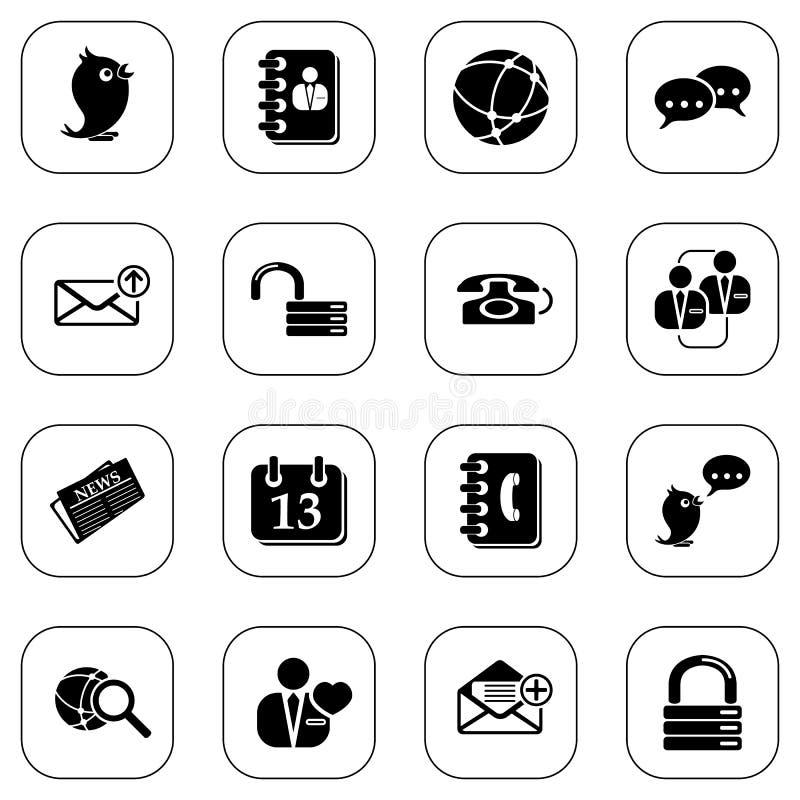Free Social Media&blog Icons - B&W Series Stock Photography - 13682412