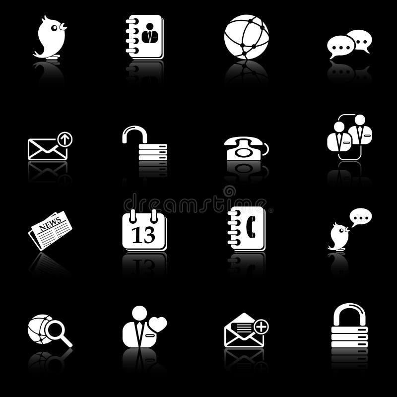Download Social Media & Blog Icons - Black Series Stock Images - Image: 13493094