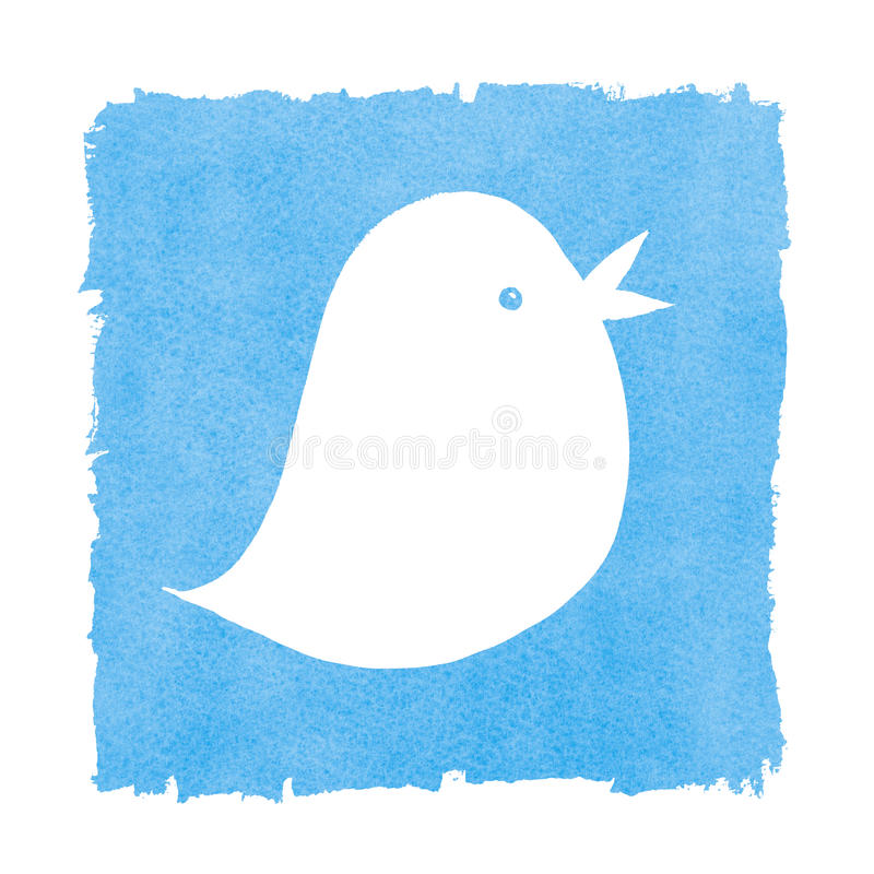 Social Media Blue Bird Tweeting Stock Image Image Of Speaking