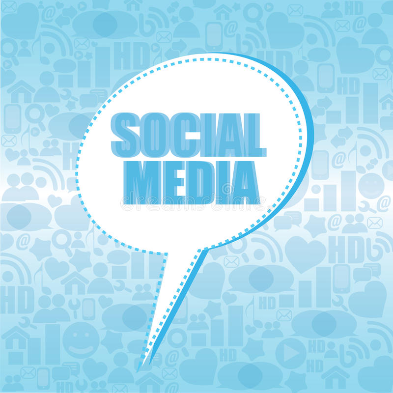 Social Media Box Royalty Free Stock Images