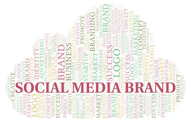 Social Media Brand word cloud stock illustration