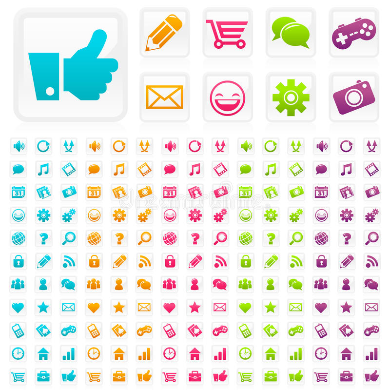 Download Social Media Business Icons Stock Vector - Illustration: 22041182