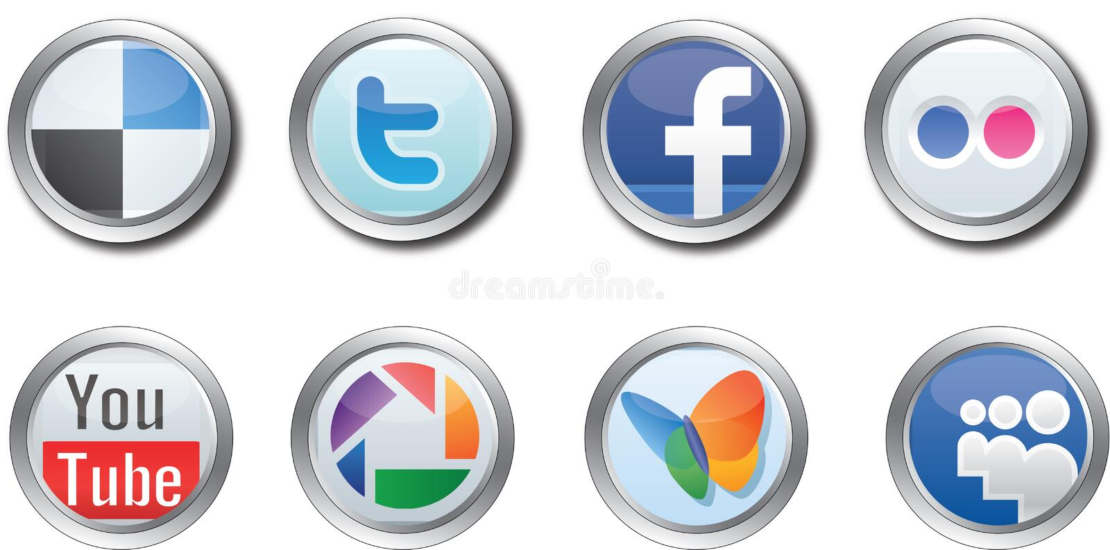 Download Social Media buttons editorial stock image. Image of facebook - 21485939