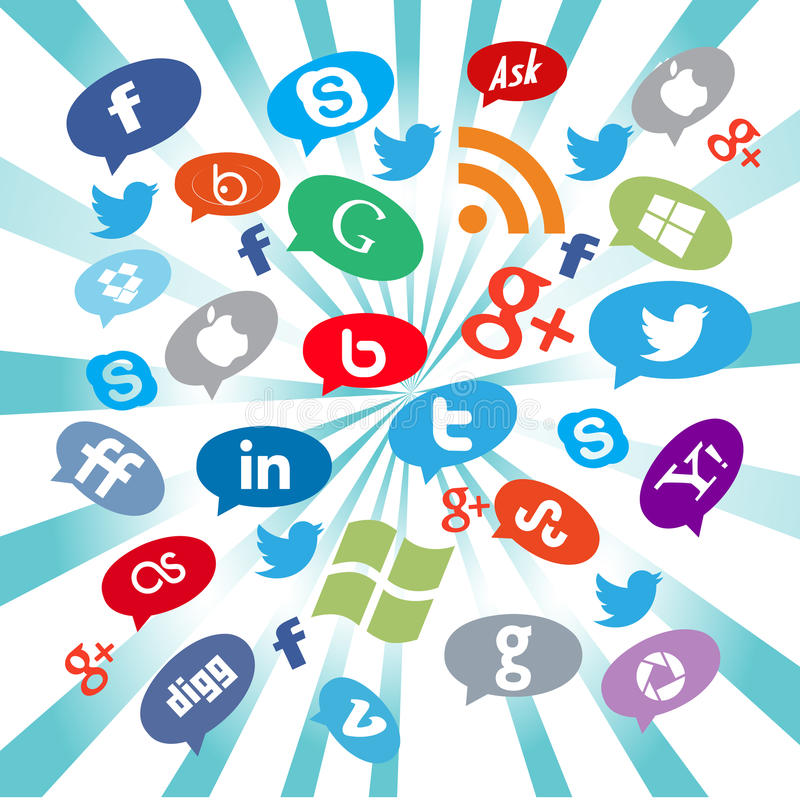 Download Social media buttons editorial photo. Illustration of apple - 49770456