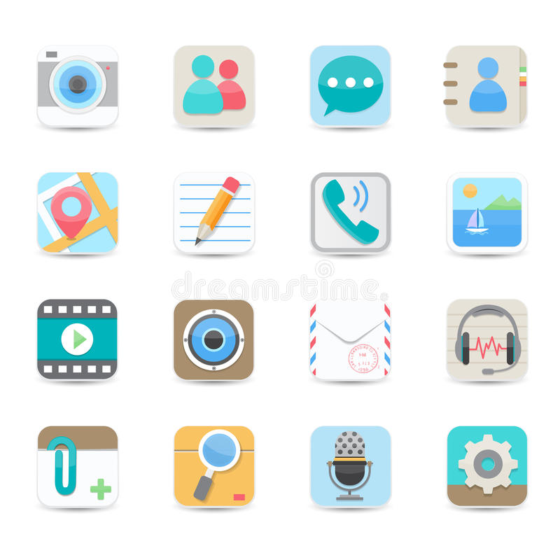 Download Social Media And Chat Application Icons Stock Vector - Illustration of network, camera: 31980040