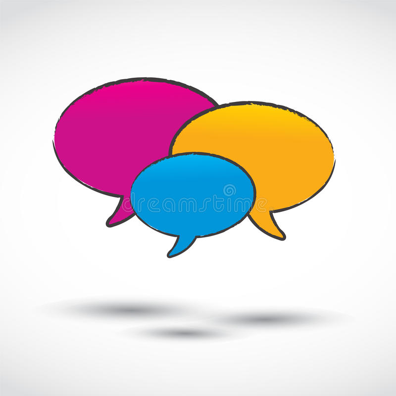 Social Media And Chat Balloons Royalty Free Stock Images