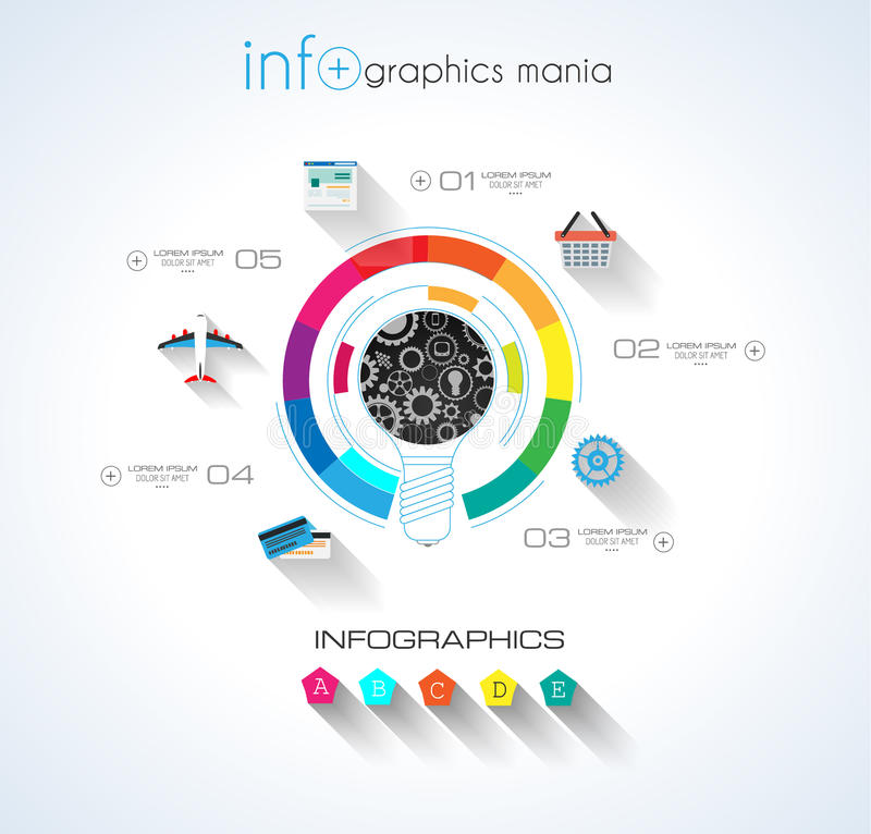 Social Media and Cloud concept Infographic vector illustration