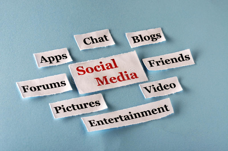 Social Media collage stock photo