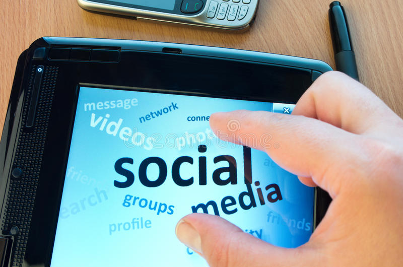 Social media concept royalty free stock photo