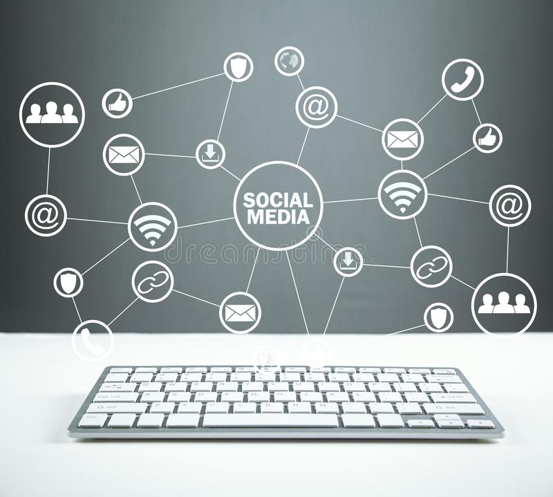 Social Media Concept. Business, Technology, Communication royalty free stock photography