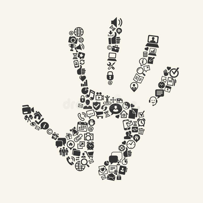Social media concept. Vector royalty free illustration