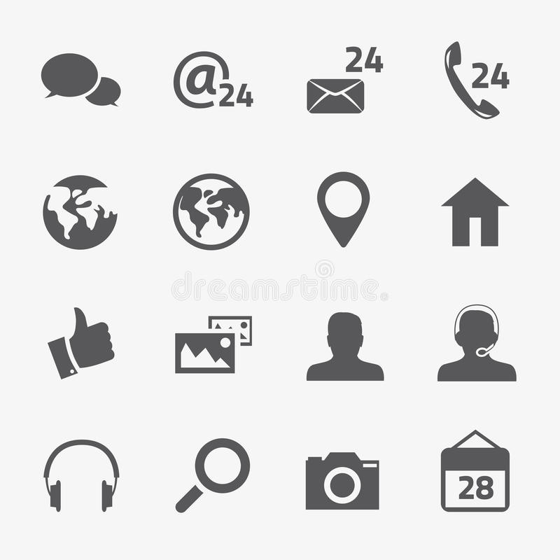 Social media and connection vector icons set