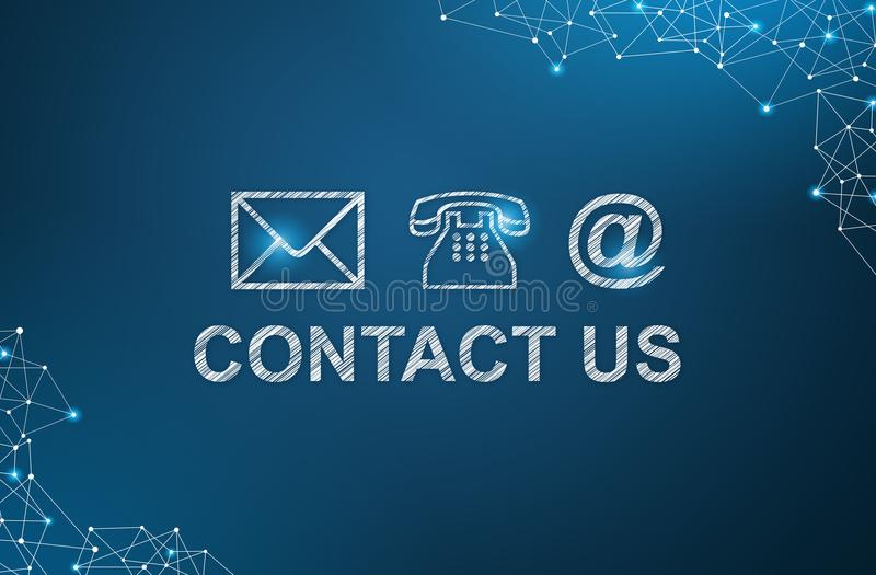 Social Media Contact Us concept.  royalty free stock images