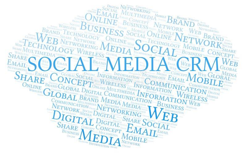 Social Media Crm word cloud royalty free illustration