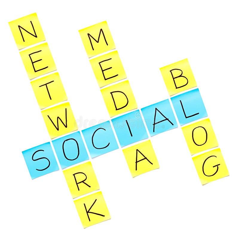 Social Media Crossword Puzzle Stock Image