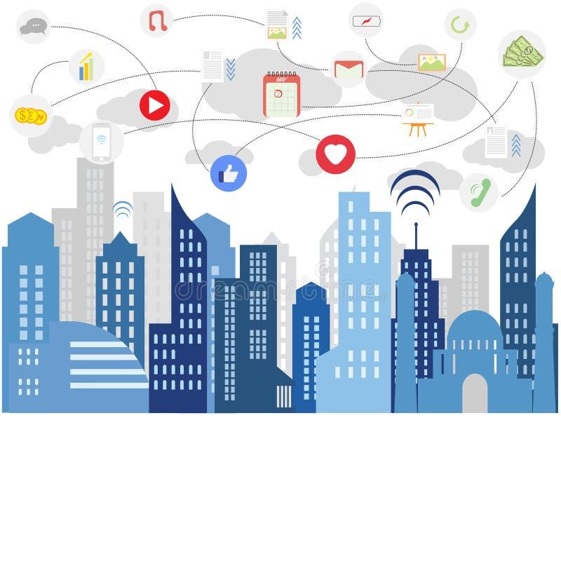 Social Media des modernen Lebens vektor abbildung