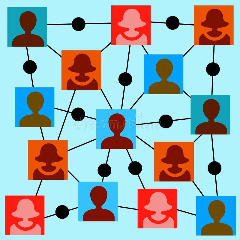 Download Social Media-Diagramm-Illustrationsdesign über Weiß Stock Abbildung - Illustration von vernetzung, gemeinschaft: 47100561