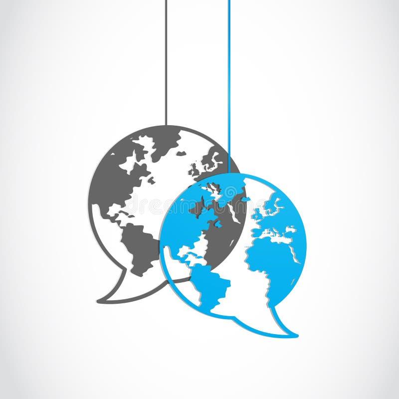 Download Social media dialog globe stock vector. Image of balloon - 28066174